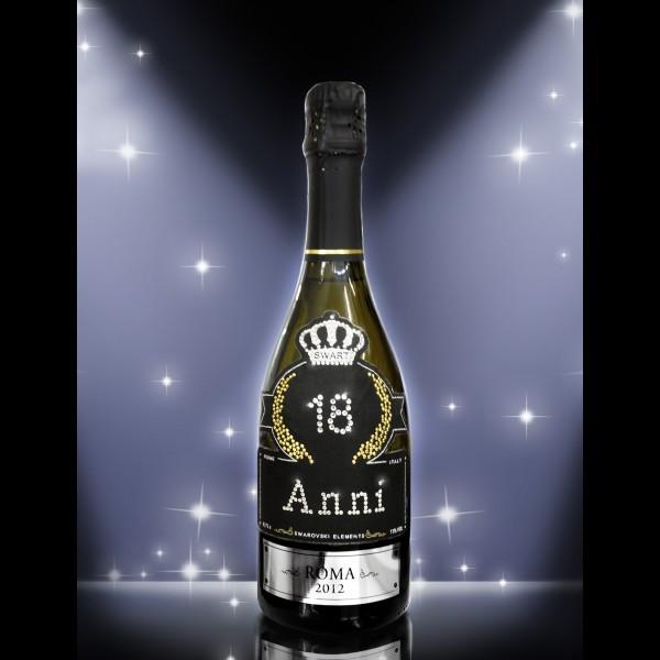 Bottiglia Di Prosecco Per Brindisi Di Compleanno Con Swarovski