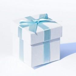 6 scatole porta bomboniere con nastro azzurro