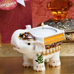 Portacandele con elefantino indiano