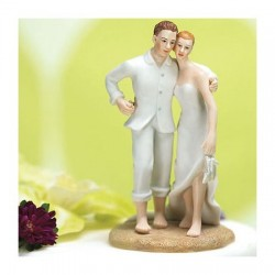 Cake topper sposi in spiaggia