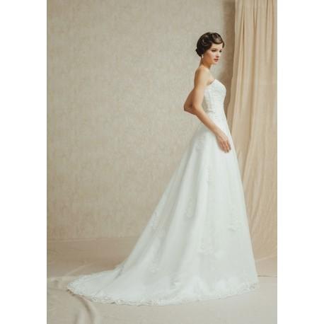 Abito da sposa classico con coprispalle staccabile Mod. Maria Amelia ... 45f37a7fb614