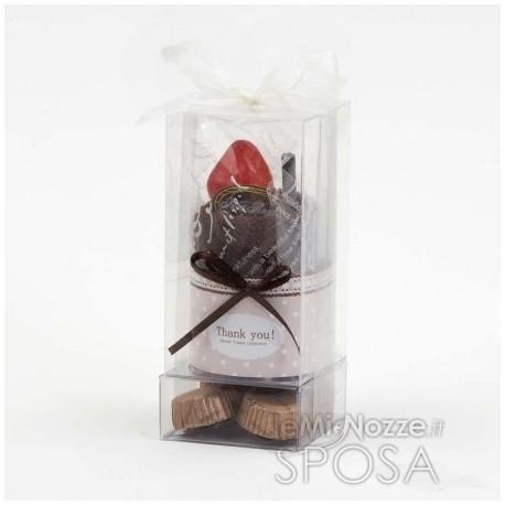 Tovaglia in spugna a forma di cioccolatini