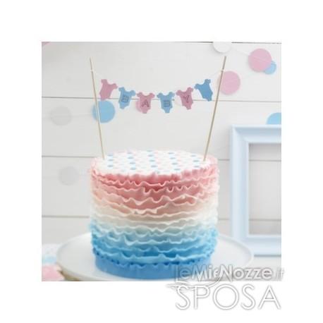 Cake topper con bandierine