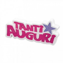 "Scritta in polistirolo "" Tanti Auguri"""