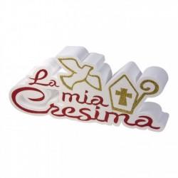 """Scritta in polistirolo """"La Mia Cresima"""""""