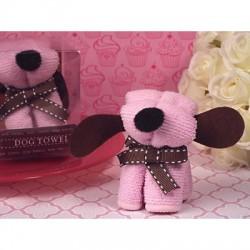 Tovaglietta in cotone rosa a forma di cucciolo