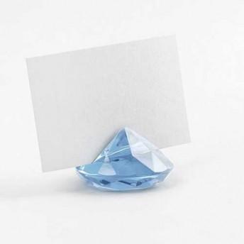Segnaposto Matrimonio Azzurro : Segnaposto diamante azzurro