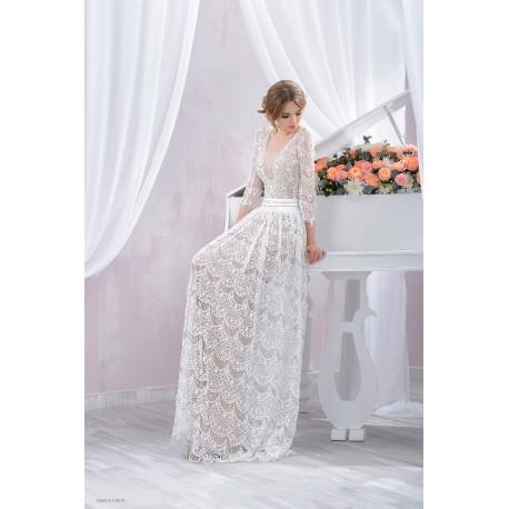 Vestiti In Pizzo Da Sposa.Abito Da Sposa Scivolato Mod Clorinda