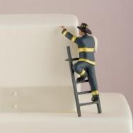 Cake topper sposo pompiere
