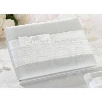 Guestbook fiocco bianco