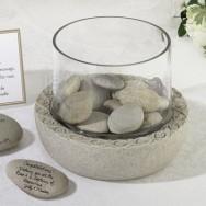 Vaso guestbook per dedica sulla pietra