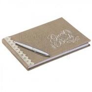 Guestbook matrimonio marrone stile country