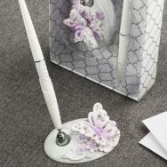 Penna per guest book con farfalle