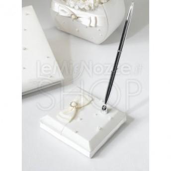 Penna per guestbook perle e raso