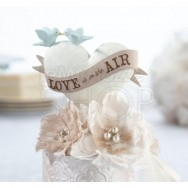 Cake topper con cuore Love is in the air