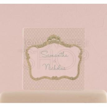 Cake topper trasparente con cornice vintage personalizzato