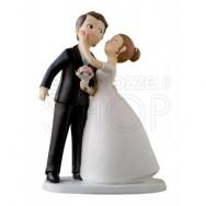 Cake topper sposi bacio