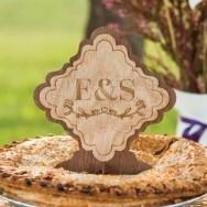 Cake topper tronco di albero personalizzato