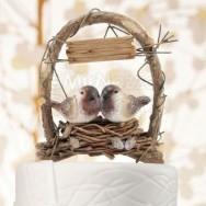 Cake topper personalizzabile a forma di nido