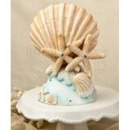 Cake topper conchiglie e stelle marine