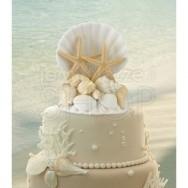 Cake topper mare e conchiglie