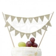 Cake Topper serie Festone Just Married Vintage
