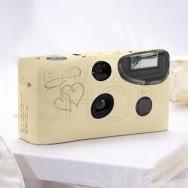 Macchina fotografica usa e getta oro con cuori