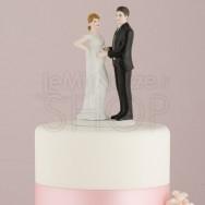 Cake topper sposi con sposa in dolce attesa