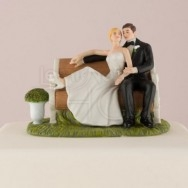 Cake topper panchina d'amore