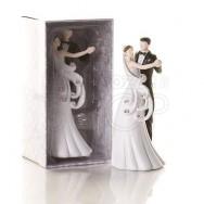 Cake topper sposi che danzano