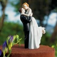 Cake topper abbraccio romantico