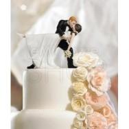 Cake topper bacio degli sposi