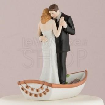 Cake topper con sposi in barca