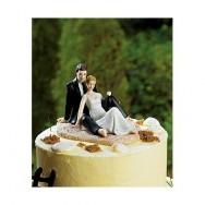 Cake topper sposi sulla spiaggia