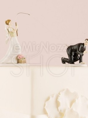 Cake topper sposi con sposo all'amo