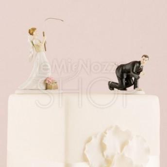 Cake topper sposi con sposo all'amo