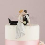 Cake topper sposi abbraccio