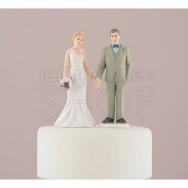 Cake topper sposi mano nella mano