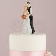 Cake topper sposi con il pallone da basket