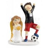 Cake topper sposo calciatore