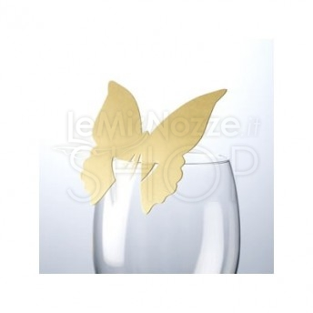 Segnaposto oro a farfalla 10 pezzi