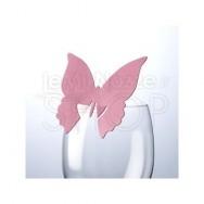 Segnaposto fucsia a farfalla 10 pezzi