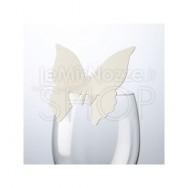 Segnaposto a farfalla avorio 10 pezzi