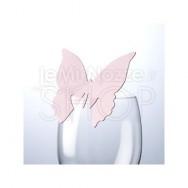 Segnaposto a farfalla rosa 10 pezzi