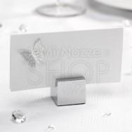 Segnaposto modern square argento 12 pezzi