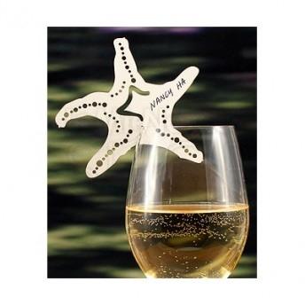 Segnaposto per bicchiere a forma di stella marina 24 pezzi