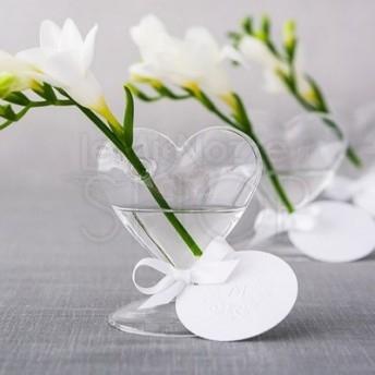 Segnaposto Matrimonio In Vetro.Segnaposto Vaso In Vetro A Forma Di Cuore 4 Pezzi