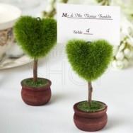 Segnaposto e segnatavolo cuore verde