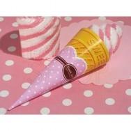 Asciugamano a forma di cono gelato rosa