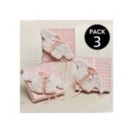 Maglioncino rosa con scatola + 3 confetti
